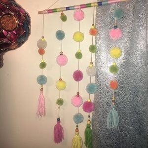 Pom pom tassel beads hanging